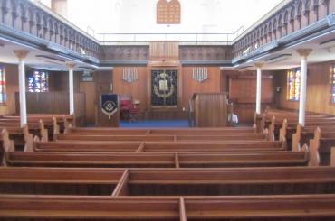 Interior of Cardiff Reform Synagogue