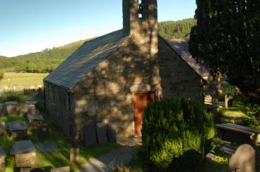 exterior image of St Julitta's Church Capel Curig, Conwy