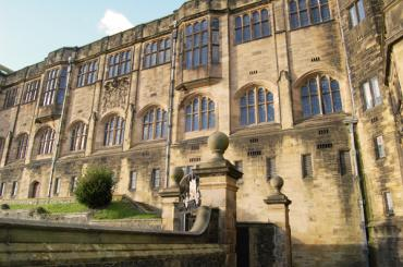 outside image of Main Arts Building, Bangor University