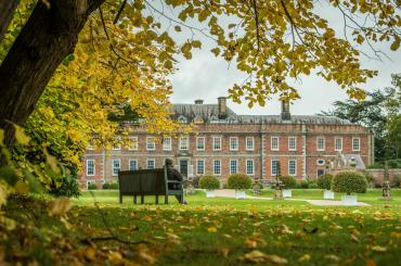 outside view of Erddig hall in autum time