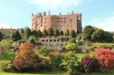 outside of Powis Castle and gardens