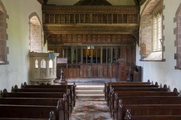 interior image of St Jerome's Church, Llangwm Uchaf