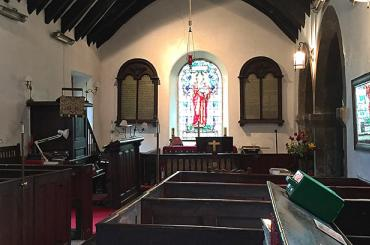 interior image of St Peter's Church, Llanbedr y Cennin