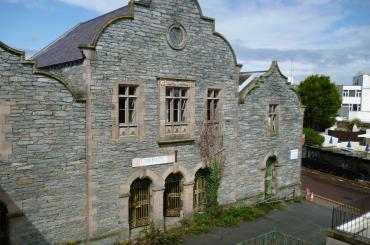 exterior image of Market Hall, Holyhead before refurbishment