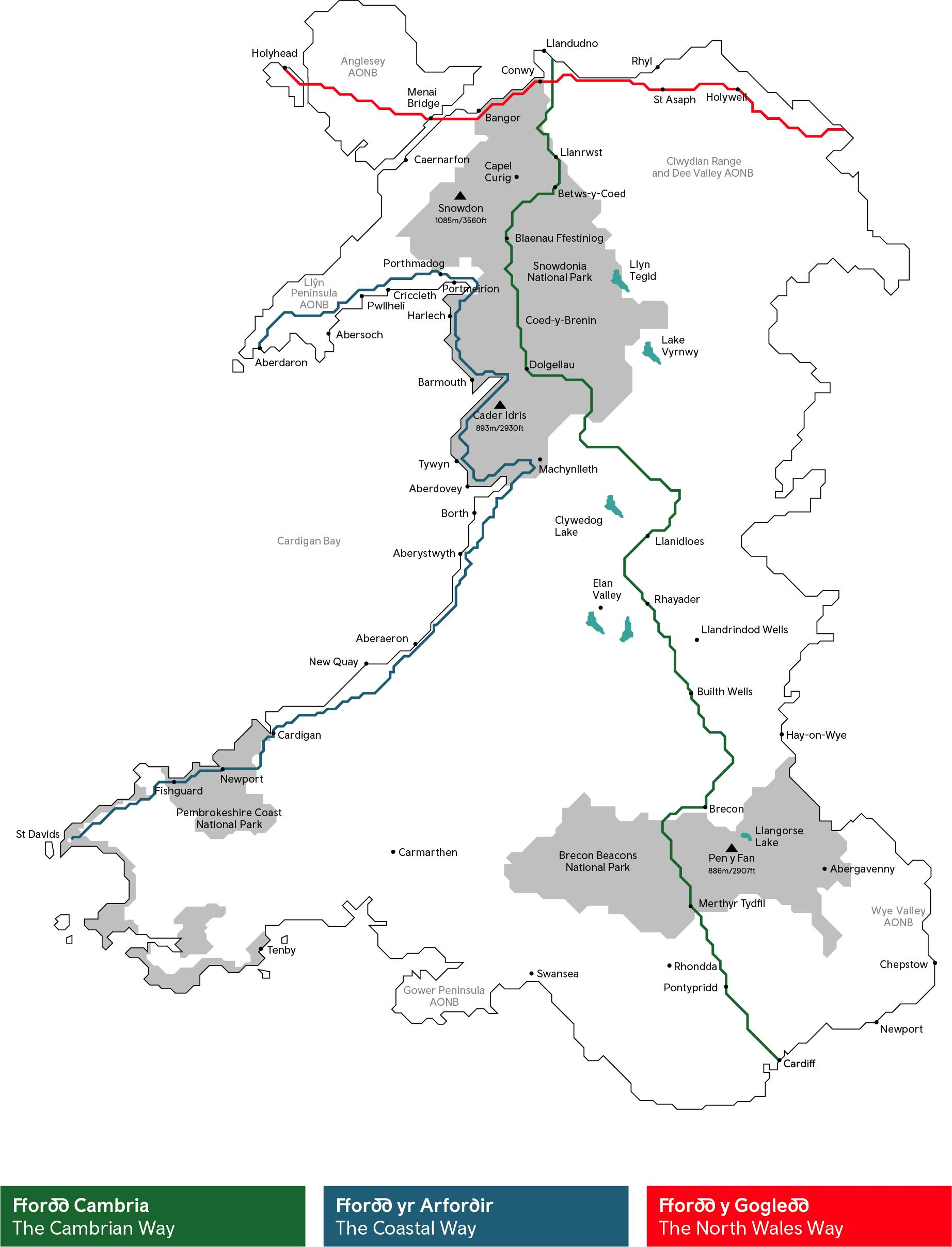 The Wales Way Map